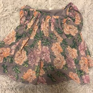 Frenchi floral printed skirt